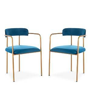 Safavieh Camille Side Chair, Set of Two  - Navy/Gold