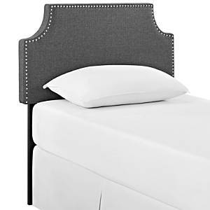 Modway Laura Upholstered Fabric Headboard, Twin  - Gray