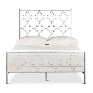 Safavieh Morris Lattice 62.5 Metal Bed - Queen  - Antique Silver/Multi