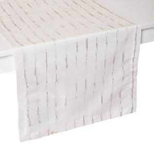 Mode Living Cannes Table Runner, 16 x 108  - Silver
