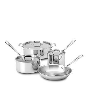 All-clad All Clad Stainless Steel 7-Piece Cookware Set - 100% Exclusive  - Stainless