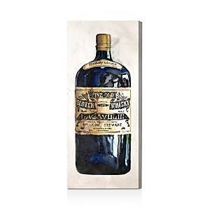 Oliver Gal Fine Old Whiskey Wall Art, 17 x 40  - Black