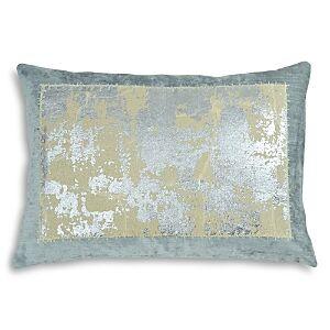 Michael Aram Distressed Metallic Lace Decorative Pillow, 14 x 20  - Seafoam