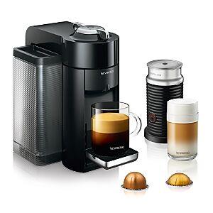 Nespresso Vertuo by De'Longhi with Aeroccino Milk Frother, Classic Black  - Black - Size: Model ENV135BAE