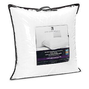 Live Comfortably Ashtma & Allergy Friendly Medium Memorelle Pillow, Super Euro  - White