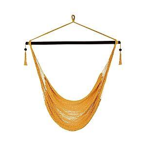 Sunnydaze Decor Hanging Caribbean Hammock Chair  - Gold