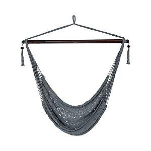 Sunnydaze Decor Hanging Caribbean Hammock Chair  - Grey