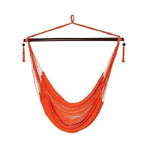 Sunnydaze Decor Hanging Caribbean Hammock Chair  - Orange