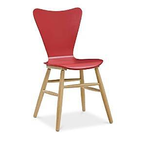 Modway Cascade Wood Dining Chair  - Red