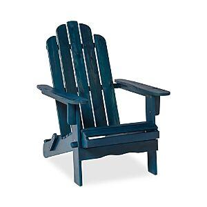 Sparrow & Wren Delmare Outdoor Patio Adirondack Chair  - Navy Blue Wash