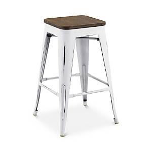 Modway Promenade Backless Wooden Seat Counter Stool  - White