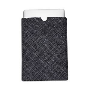Chilewich Mini Basketwave Laptop Sleeve, Large Tablet  - Cool Gray