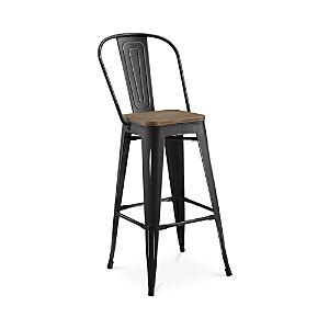 Modway Promenade Small Wooden Seat Bar Stool  - Black
