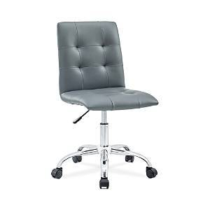 Modway Prim Armless Mid Back Office Chair  - Gray