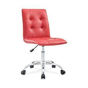 Modway Prim Armless Mid Back Office Chair  - Red