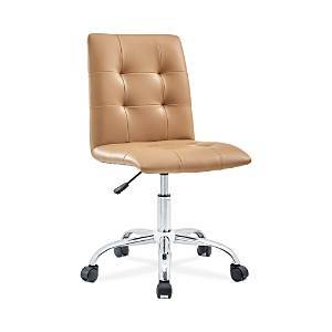 Modway Prim Armless Mid Back Office Chair  - Tan