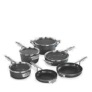 Calphalon Premier Space Saving Hard Anodized Nonstick 10-Piece Cookware Set  - Black