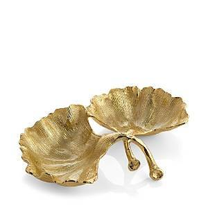 Michael Aram Ginkgo Two-Section Gold Dish  - Gold