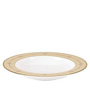 Lenox Sharon Sacks by Lenox Jeweled Jardin Rimmed Soup Bowl  - White