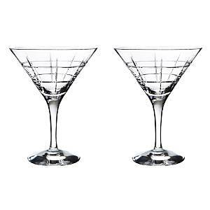 Orrefors Street Martini Pair  - No Color