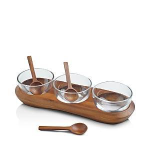 Nambe Cooper Condiment Server  - Brown