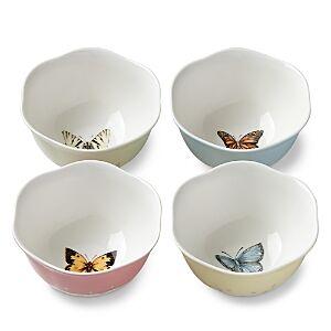 Lenox Butterfly Meadow Dessert Bowl, Set of 4  - Multi