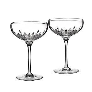 Waterford Lismore Essence Collector's Boxed Saucer Champagne Glass, Set of 2  - Clear