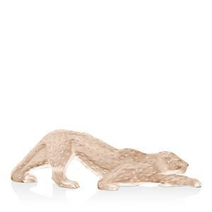 Lalique Zeila Panther Figure Gold Luster  - Gold Luster