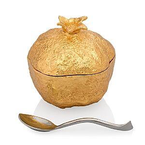 Michael Aram Pomegranate Mini Pot with Spoon  - Gold