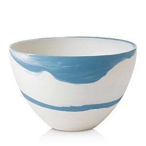 Wedgwood Blue Pebble Medium Bowl  - White/Blue