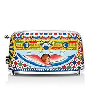Smeg Dolce & Gabbana Four-Slice Toaster  - Yellow - Size: Model TSF02DGUS