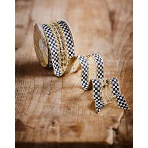 MacKenzie-Childs Precious Metals Holiday Ribbon, 10 Yards