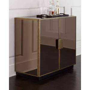 Elsa Mirrored Bar Cabinet