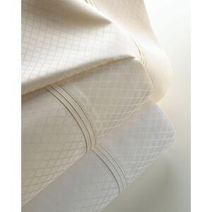 Matouk Two King 600 Thread Count Diamond Jacquard Sateen Pillowcases
