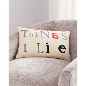 John Derian Things I Like Parchment Pillow