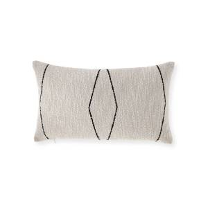 Elaine Smith Oblique Lumbar Ebony Sunbrella Pillow