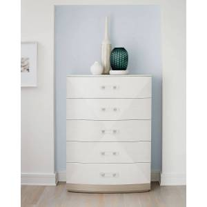 Bernhardt Axiom 5 Drawer Tall Chest of Drawers