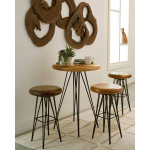Philips Smooth Bar Stool with Chamcha Wood Seat