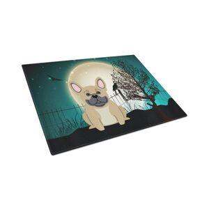 Carolines Treasures BB2200LCB Halloween Scary French Bulldog Cream Glass Cutting