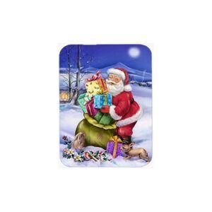 Carolines Treasures APH6556LCB Christmas Santa Claus with Rabbits Glass Large