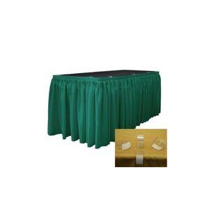 LA Linen SKT-Pop-30x29-15Lclips-TealP43 Polyester Poplin Table Skirt with 15 L-C