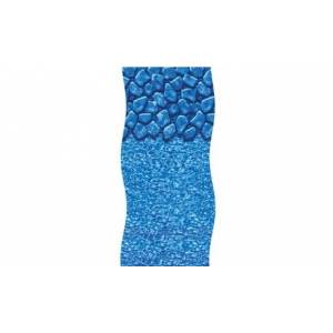 "15'x 30' Blue Boulder Swirl 48/52"" Oval Above Ground Pool Liner"