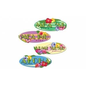 SiGN Beistle - 55327 - Hawaiian Sign Cutouts- Pack of 12