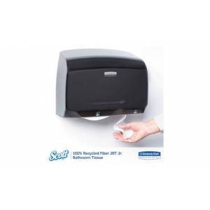 Kimberly Clark 100% Recycled Fiber Jrt Jr. Bathroom Tissue,2 Ply,1000ft,12/Carton