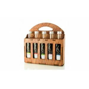 Pellas Nature, Fresh Organic Infused Olive Oil, Gift Set 5 Flavors