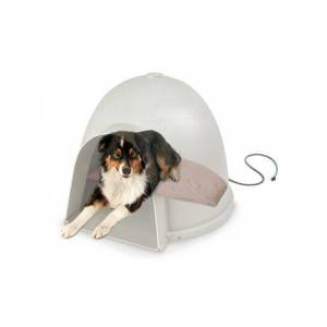 K Lectro-Soft Igloo-Style Outdoor Heated Pet Bed