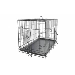 "30"" Single Door And Double Door Folding Metal Dog Crate"