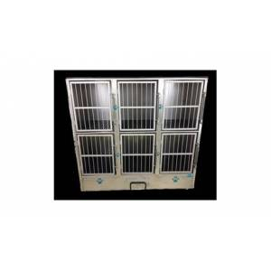 Groomers Best GB6UNIT 6 Unit Cage Bank- Fully Assembled
