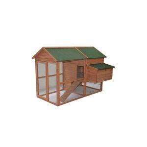 "71"" Wooden Backyard Hen House Chicken Coop"
