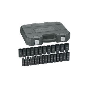 Gearwrench KD84935N Metric Standard and Deep Socket - 0.5 in.